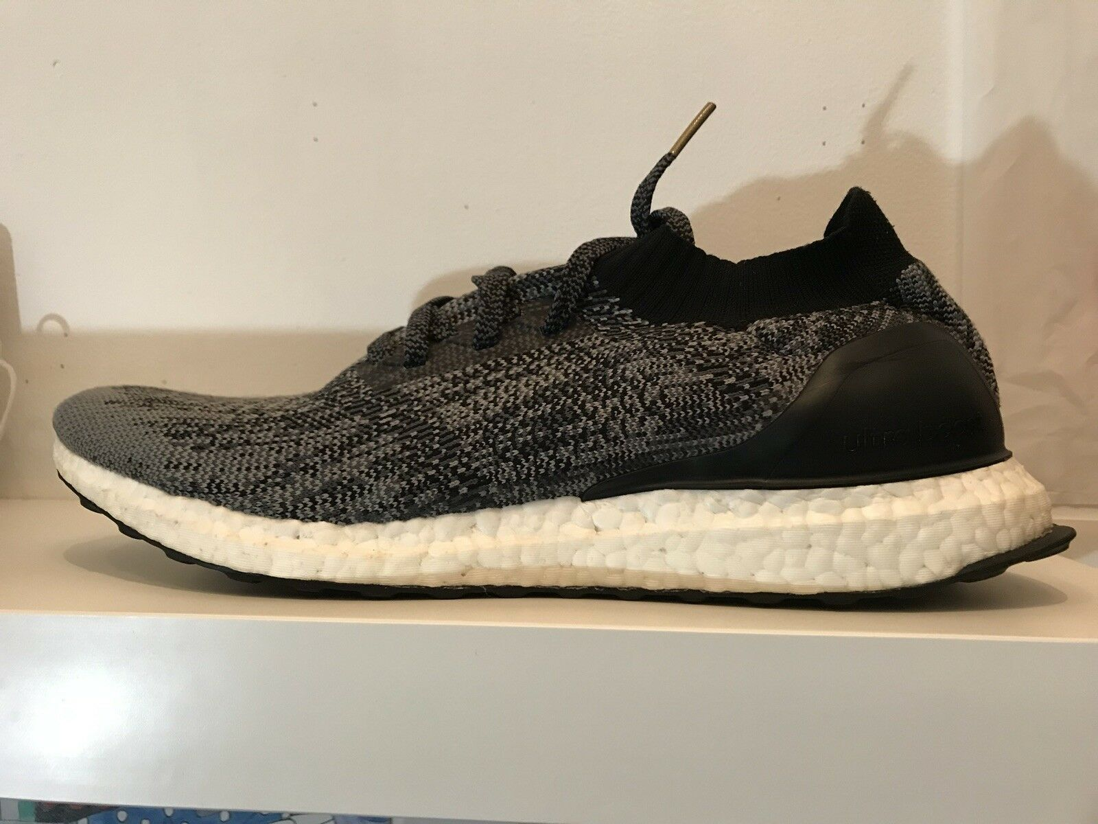 Adidas Ultra Boost Uncaged Black White Grey Comfortable