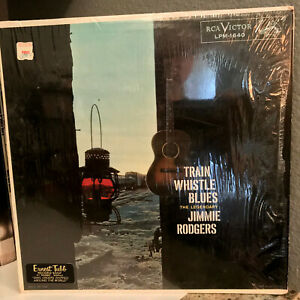 JIMMIE-RODGERS-Train-Whistle-Blues-Orig-Shrinkwrap-12-034-Vinyl-Record-LP-VG