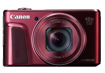 Canon PowerShot SX720 HS (RED) with Wifi Technology & 40x Optical Zoom (SMP4)