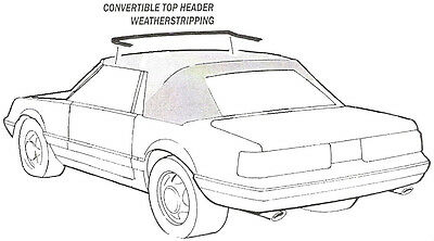 Direct Replacement 1983-1984 Ford Mustang Convertible Top Header Weatherstrip