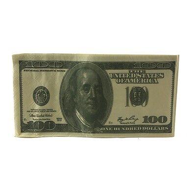 Casino Vegas Party  Money $100 Bill Napkins Hundred Dollar Faux Bill Napkins