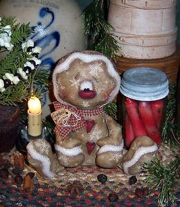 Ratties primitive raggedy gingerbread doll paper pattern 626 ebay