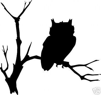 Great Horned Owl Vinyl Sticker// Decal