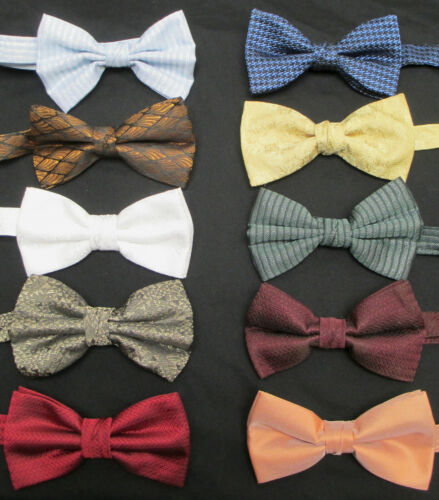 Lot of 100 Boys Bow Ties Pre-Tied /& Adjustable Costume Theater Resale Tuxedo