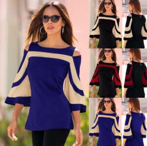 New-Fashion-Womens-Long-Sleeve-Slim-Blouse-Casual-Shirt-Summer-Tops-T-Shirt