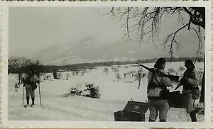 PHOTO-ANCIENNE-VINTAGE-SNAPSHOT-MILITAIRE-CHASSEUR-ALPIN-ALPIN-SOLDIER