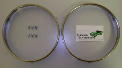 3DAY SALE Headlamp Retaining Rings w//hdw Chevrolet Pontiac Olds Notch style ring