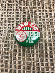 Details about Vintage 1951 UAW - CIO Hat / Lapel Pin