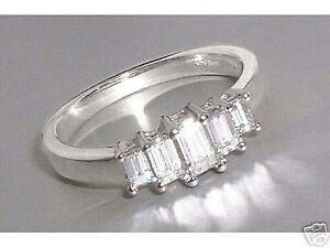 939f339939893 Details about Diamond Ring: 0.64ct 5-Stone Emerald Cut Diamond & 18ct White  Gold Ring