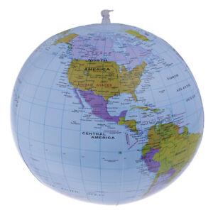 40CM-Inflatable-World-Globe-Teach-Education-Geography-Map-Toy-Kid-Beach-Ball-QA