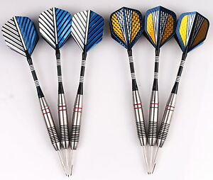 2-sets-of-Steel-Tip-Darts-23g-Stainless-Barrel-with-Aluminium-Shafts