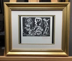 Pablo-Picasso-Lithograph-Hand-Signed-In-Red-Pencil-1966-COA