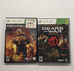 Xbox-360-Gears-of-War-Triple-Pack-amp-Gears-of-War-Judgement-2-Game-Lot