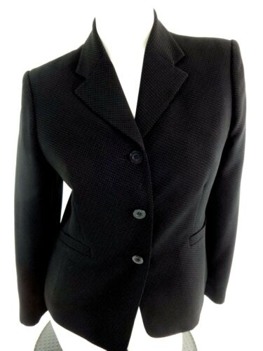 STYLE & CO. PETITES WOMENS BLACK BUTTON FRONT POLY BLEND BLAZER JACKET SIZE 10P