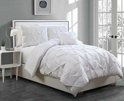 Avondale Manor 4 Piece Anabelle Pinch Pleat Comforter Set Full
