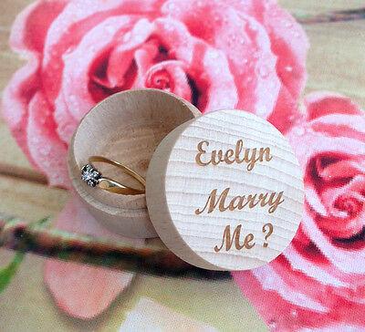 Aggressivo Anello Di Fidanzamento Wedding Rings Scatola San Valentino Idea Regalo, Matrimonio Me?, Amore, Grande Da-