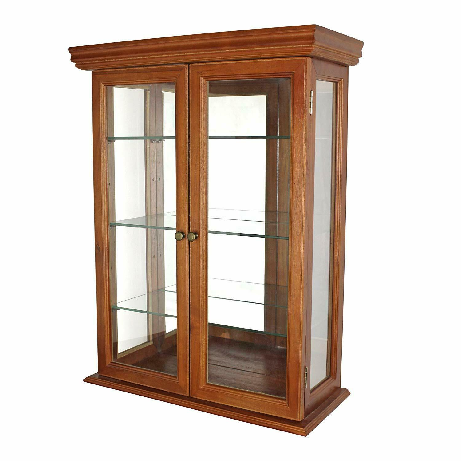Design Toscano Glass Curio Cabinets Country Tuscan Wall Mounted Cabinet