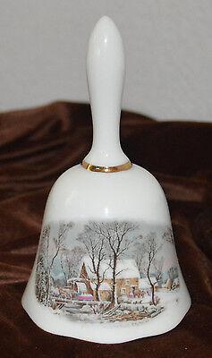 Avon Winter Grist Ceramic Bell 1978