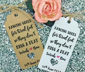 1f19d360b Image is loading Flip-Flops-Dancing-Shoes-Gift-Tag-Wedding-Favour-