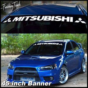 Image is loading MITSUBISHI-Windshield-Decal-vinyl-sticker-custom -graphic-logo-