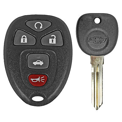 5-BUTTON Best Replacement Keyless Entry Remote Start Alarm w//Uncut Key For Ford