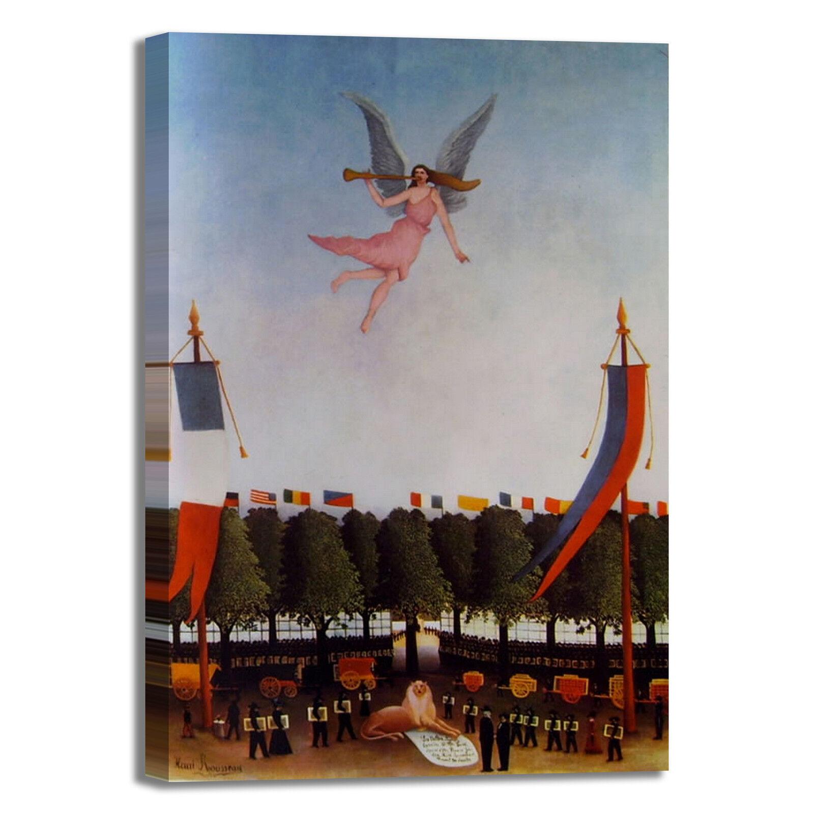 Rousseau la libertà o design quadro stampa tela dipinto telaio arRouge o libertà casa 9204f6