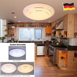 Image Is Loading 24W LED Dimming Deckenlampe Deckenleuchte Schlafzimmer Kuche Wohnzimmer