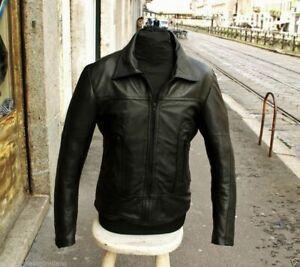 giacca in pelle uomo anni 70