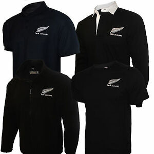 New-Zealand-All-Blacks-Rugby-Shirt-Mens-Kiwis-Style-Fleece-Tee-Soft-Shell-New