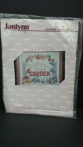 Beadshine-Janlynn-Counted-Cross-Stitch-Kit-Welcome-to-my-Garden-NEW-Sampler-5689