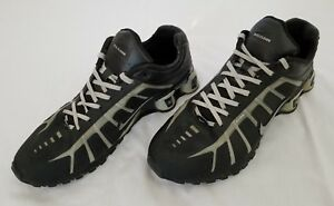 Mens Size 12 Black Grey Nike Shox O Leven Flywire Running Shoes ... 5d3b20dfb