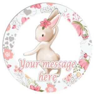 RD38-Bunny-Rabbit-Birthday-personalised-round-cake-topper-icing