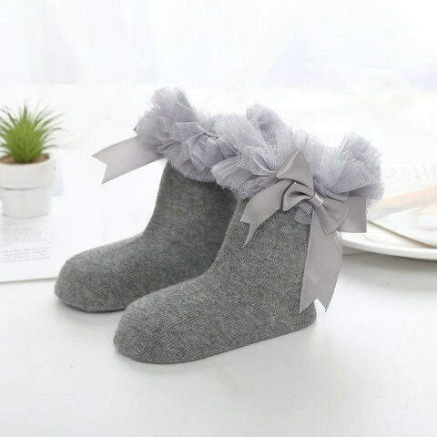 Girls Toddlers Kids Children Pretty Tutu Bow Ankle Wedding Party Socks 2-8 years