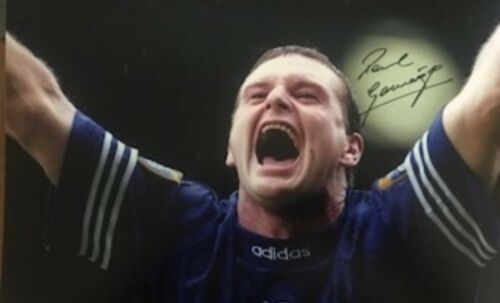 PAUL GAZZA GASCOIGNE RANGERS SIGNED PIC REALLY NICE WITH COA £30 Or Close Offer