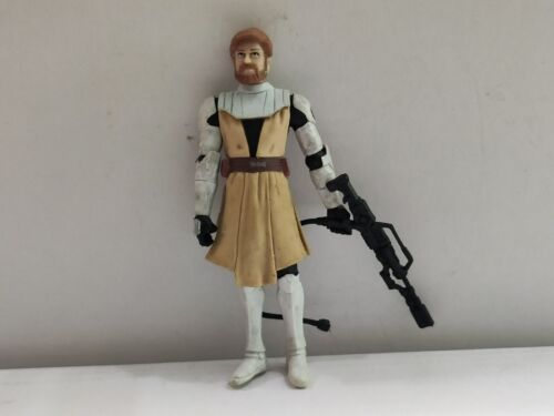 "3.75/"" Star Wars Series 2005 White Clone Pilot TROOPER  Figure Toy #003"