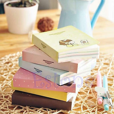 1Pc Cookie Girl Mini Cute Diary Pocket Planner Notebook Tiny Memo Free Note Gift