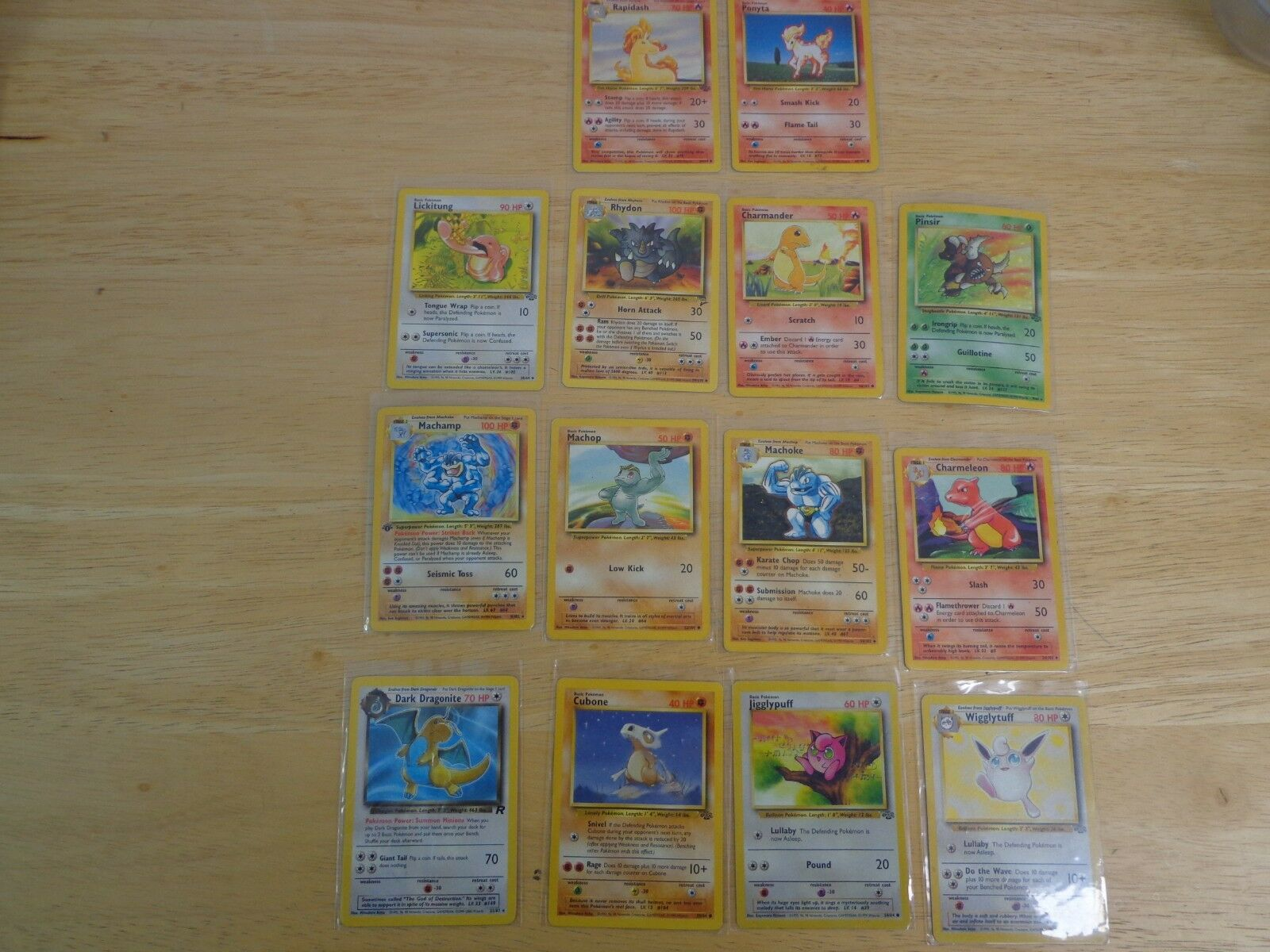 Pokemon 1st edition Machamp and 13 others...Excellent condition