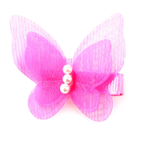 5X Bow Butterfly Hair Clips Girls Hair Grips Kids Hairpin Headwear Accessory v-b