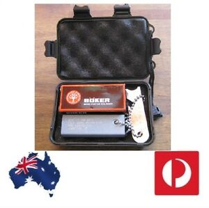 Boker-DA33-Knife-amp-Army-Fire-starter-in-Hard-Case-survival-camping-hunting