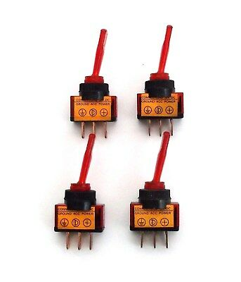 4 BBT Marine Grade On//Off//On 12 volt 20 amp 6 Terminal Toggle Switches with Boot
