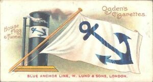 Ogdens  Flags amp Funnels of Leading Steamship Lines  49  Blue Anchor Line - <span itemprop=availableAtOrFrom>Matlock, United Kingdom</span> - Open immediately on receipt. Inform seller at once if the item does not match the description in the listing. Return within seven days for full refund Most purchases from business sellers - Matlock, United Kingdom