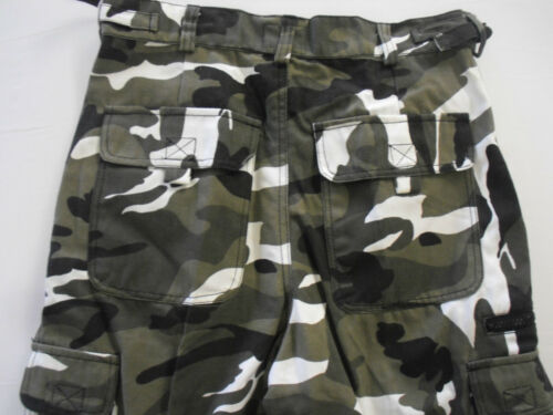 Mens Camo Camouflage Cargo Combat Outdoor Shorts Bottoms Pants Casual Pockets