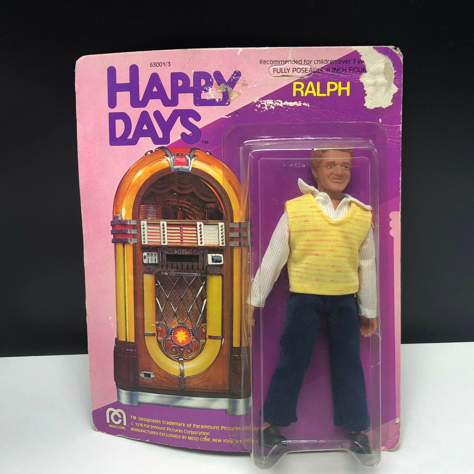 MEGO azione cifra HAPPY DAYS 1976  Ralph Mouth moc sealed giocattolo fonzie gang bambola  outlet online
