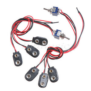 2 pack 18 Volt Mod Guitar Harness for EMG PICKUP w/Mini switch- 9V ...