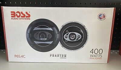 """NEW BOSS AUDIO P65.4C 6.5/"""" 4-Way 400W Car Coaxial Speakers Stereo P654C 2"""