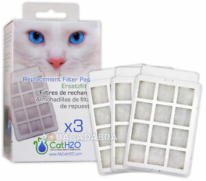 Cat-H2O-Fountain-Filter-Pads-3-Pack-Replacement-Carbon-Foam-Spare-Media-LB-CH015