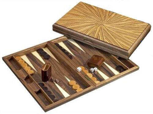 Large Hevea-Wood Modern Design Backgammon Set. NIB. FREE P&P parts of UK