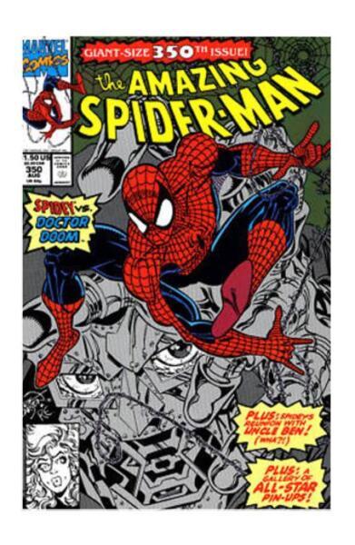AMAZING SPIDER-MAN #350 --- DR DOOM APP! LARSEN//MCFARLANE! Aug 1991! NM