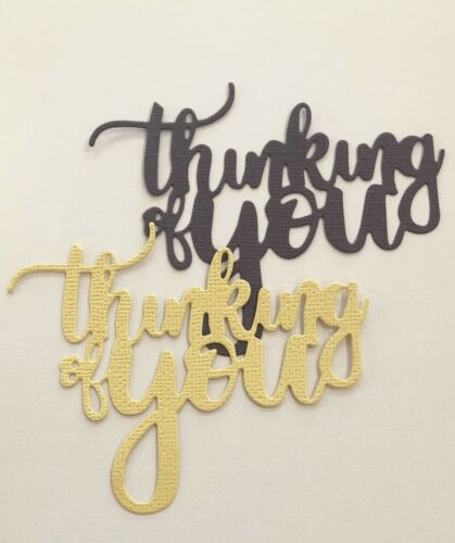 FREE POSTAGE OFFER 5 X Thinking of You Scrapbooking Cardmaking Die Cuts