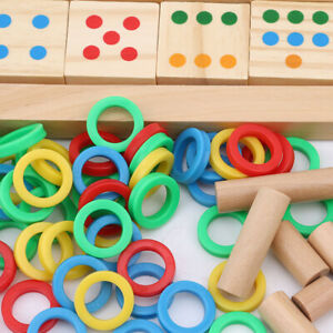 Baby-Teaching-Math-Donuts-Log-Puzzle-Cognitive-Wooden-Quality-Early-Kids-Toy-ONE